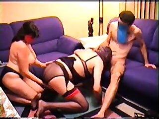 Amateur BBW granny gives a nice blowjob