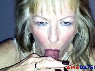 Blonde, British, Granny, Old, Pov