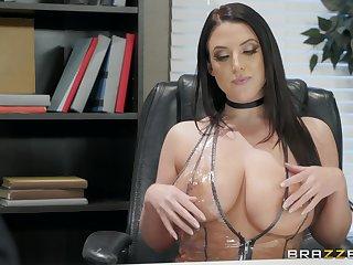 Angela Waxen enjoys sucking stranger's gumshoe like tomorrow never comes