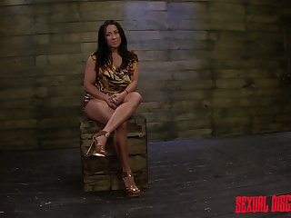 Mouth watering milf Becca Diamond is punished with crazy vibrator