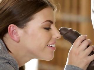 Wet facefuck increased by bi-racial ass fucking tearing adjacent to for cheater Adriana Chechick pornvideo