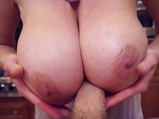 Kitchen sex session with alluring blonde Old Scratch Kelly Madison