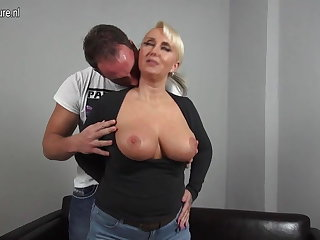 Morose big breasted German mummy fucking prepubescence