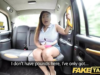 Fake Taxi Thai masseuse with fat tits works her A-