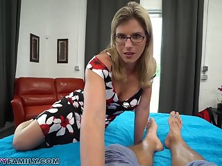 Slutty Mom Cory Chase Gives Step Son a Aiding Hand and Pussy