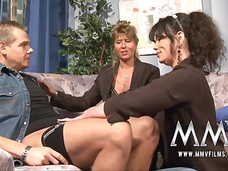 MMV Films Mature teacher having fun with a strengthen