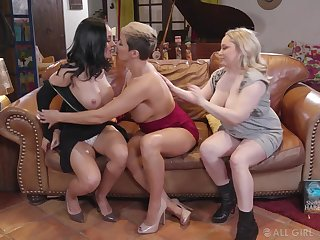 Milfs texture wild lesbian threesome at book weary