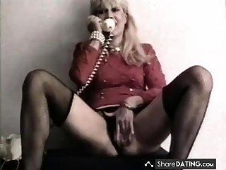 Classy mature filling her ass