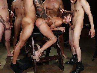 Asian whore gang burgeoning sex and brutal bondage pleasures