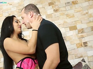 Glum Romanian babe Rosaline Love is fucked and jizzed by four deviating dude