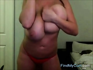Amazing boobs body of LC on webcam