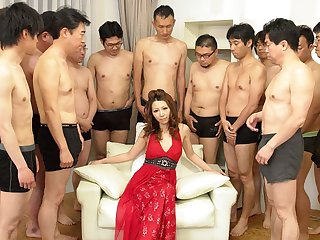 Nagisa Kazami in Nagisa Kazami is fucked unconnected with so many cocks in a gangbang - AvidolZ