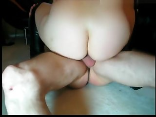 Amateur full-grown vid with me having my twat drilled