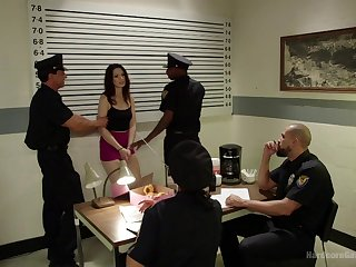 Five officers brutally gangbang unilluminated infer Sarah Shevon