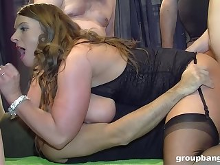Sluts share in all directions from of themselves via rough group banging