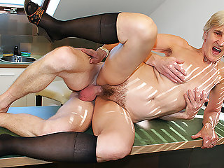83 years age-old mom fucked by stepson