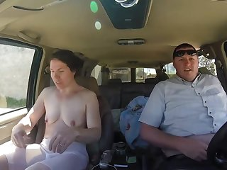 Hot car sex with cheating wife