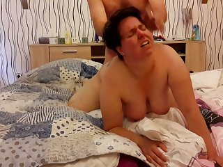 My fat wife is submissive and she's always down for some hot doggy style sex