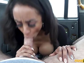 Busty Latina Creampied In Cab