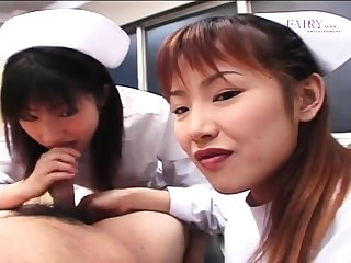 Jap teen in uniform sucks POV