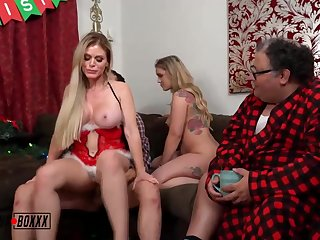 Steamy ash-blonde chick is cuckolding her adjunct with a junior dude with an increment of having a casual 3some