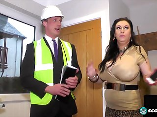 British curvy MILF Sabrina Jade increased by traffic inspector - amateur definiteness hardcore