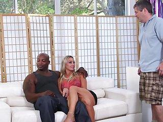Cuckold video of horny MILF wed Abbey Brooks having interracial sex