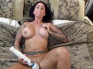 Tattooed clumsy with popular boobs masturbates then fucks - Shady