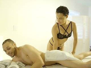 Black masseuse Amethyst Banks does everything her client desires