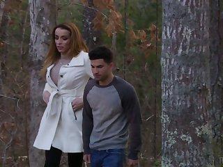 Ardent transsexual strict looking splash down dealer Savannah Thorne enjoys some anal