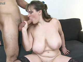 MOM up big saggy special fucks young varlet