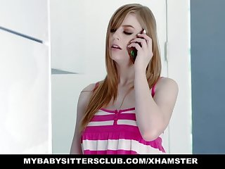 MyBabySittersClub - Babysitter Gets Hand Stuck In Hollow out and F